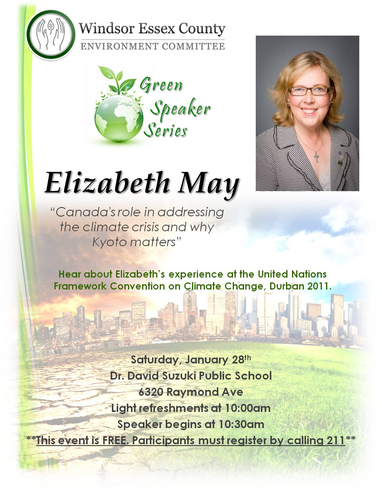 Green Party Leader Elizabeth May